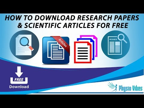 How to Download Research Papers and Scientific Articles for free