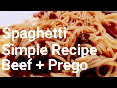 意大利面简答食谱 Spaghetti Simple Recipe | Beef + Prego Sauces