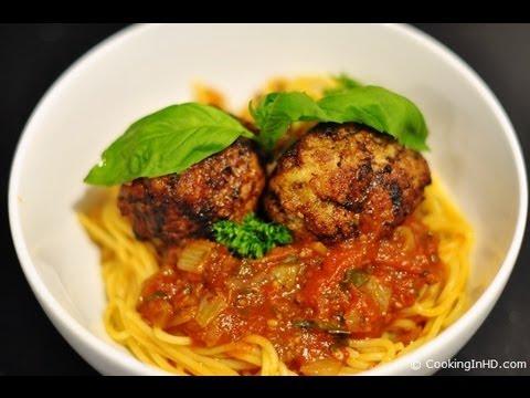 Pork Meatballs with Home-Made Tomato Sauce