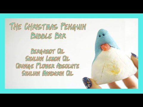 The Christmas Penguin Bubble Bar Demo - Lush Christmas 2016!