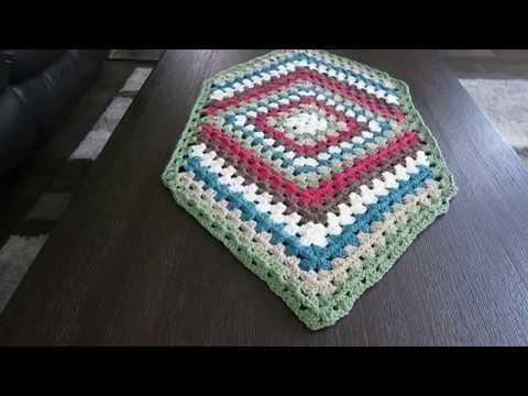 Crochet table runner, step-by-step