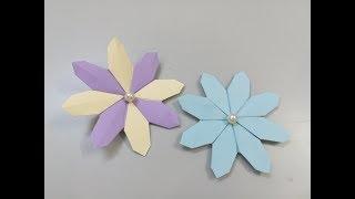 #x202b;عمل وردة بالورق الملون - صنع زهرة جميلة من الورق - اشغال يدوية#x202c;lrm;