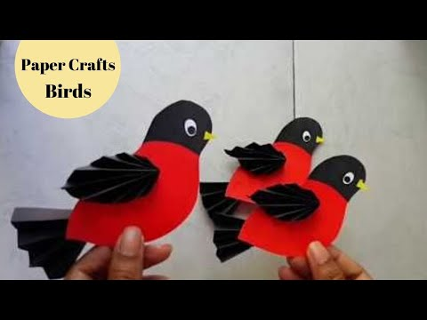 Easy paper birds tutorial for kids /it's not origami