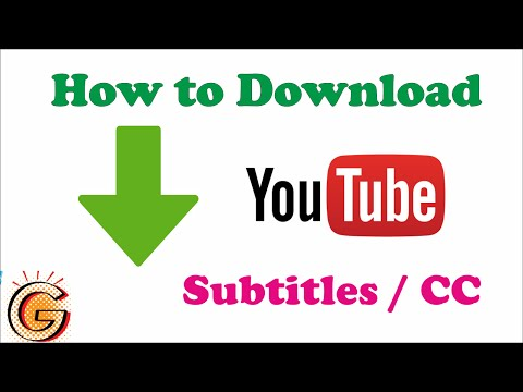 How to Download Subtitles from Youtube