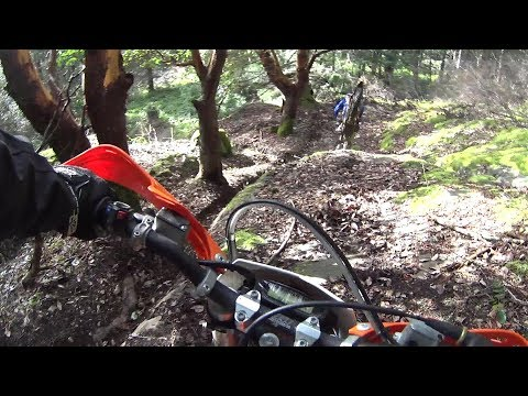 Over the bars ! Big bikes in trials terrane. What could go wrong ?