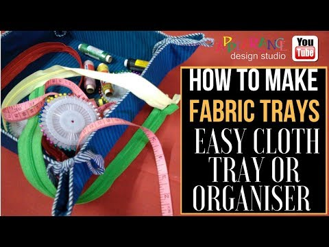 how to make fabric trays [Fabric Knot Basket]