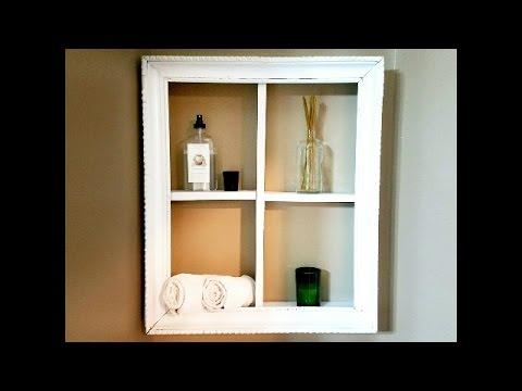 DIY - Wood Framed Shelf
