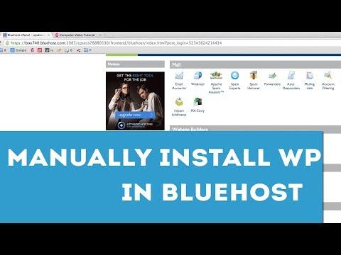 Manually Installing WordPress on BlueHost