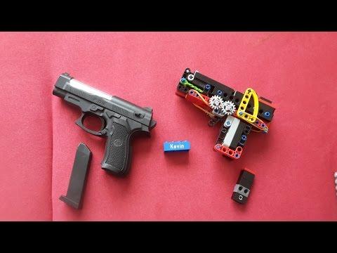 Lego Mini Technic Pistol (working) +(Tutorial)