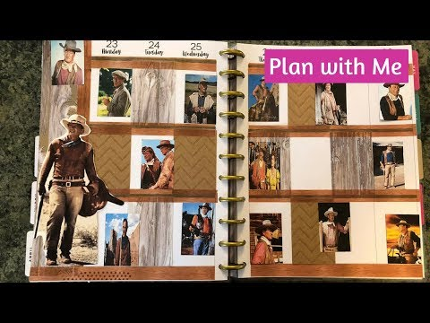 Plan With Me John Wayne Theme Happy Planner