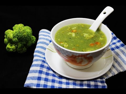Broccoli Soup | Healthy Vegetarian Soup - Chef Lall's Kitchen