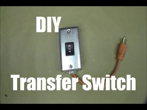 RicksDIY Building Simple Easy Generator Transfer Switch For Gas Furnace Part1