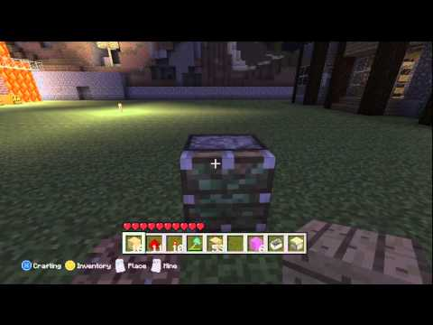 Xbox 360 Minecraft Tutorial -Change Wood Type/Wool Color- Very Easy!