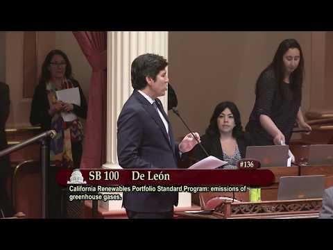 Sen. De León: California Senate Passes 100% Clean Energy and Environmental Protection Bills