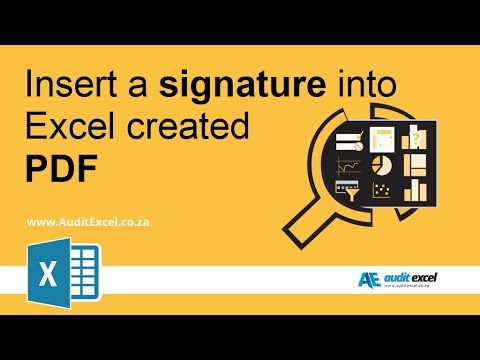 Excel to pdf signature