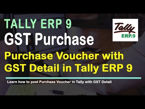 How to Enter Purchase Voucher in Tally Release 6 for GST | GST Training | Veer Tutorial
