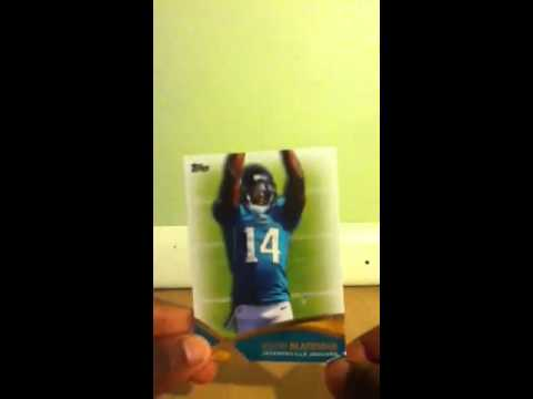 opening 2 packs of NFL cards