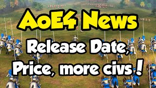 AoE4 News: Release Date, Price, and 2 New Civs Revealed!