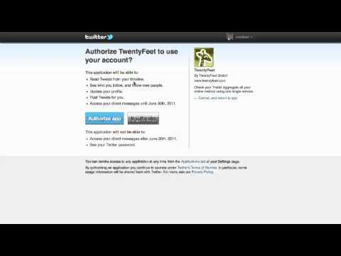 How to track multiple twitter accounts on TwentyFeet