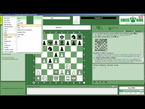 Tutorial #15: How to Print a Game to PDF in Chess King