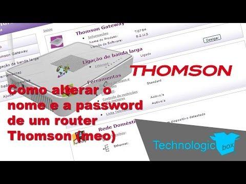 TechnologicBox - Como alterar o nome e a password de um router Thomson (meo).