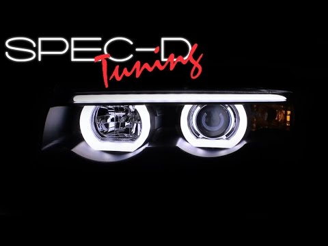 SPECDTUNING DEMO VIDEO: BMW 1995-2001 E38 7-SERIES 740i HALO LED PROJECTOR HEADLIGHTS