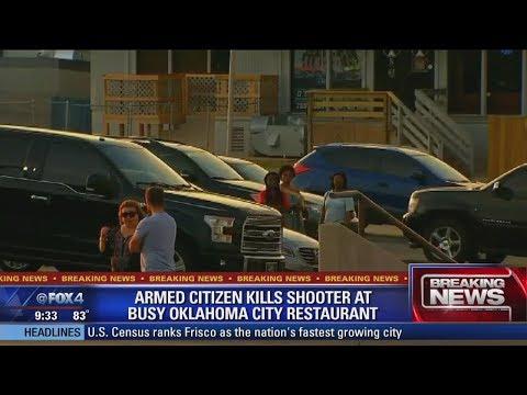 Police:  'Armed citizen' kills man who opened fire inside restaurant