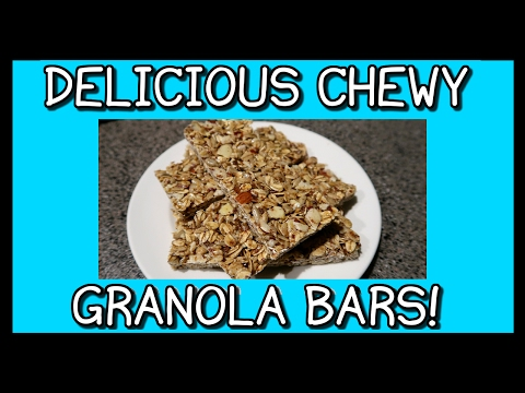 How To Make Chewy Granola Bars! | FAST & EASY!
