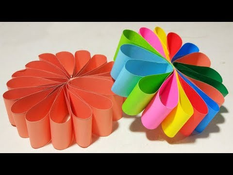 How To Make Hanging Paper Strips Flowers Garland For Party Decorations !