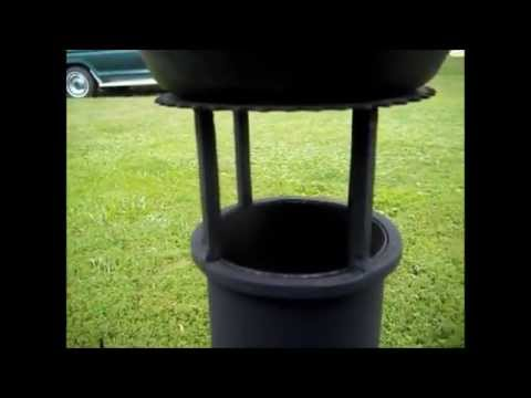 Cooking Bacon and Eggs on the  Fire Extinguisher  Rocket Stove