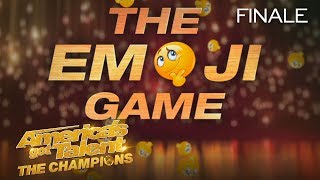 LOL! The Judges Have A Hard Time With This Emoji Game! - America's Got Talent: The Champions