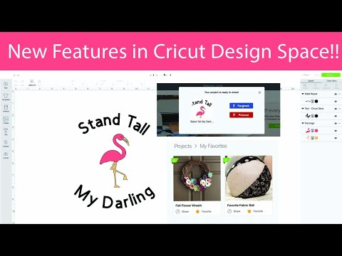 Curve Text, Share Files and Favorites in Cricut Design Space