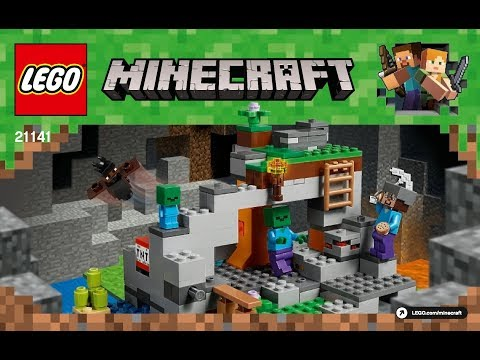 LEGO Minecraft the Zombie Cave 21141 Instructions Book DIY
