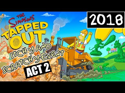 KC Plays! - The Simpsons: Tapped Out | Itchy and Scratchy Event | ACT 2 ARRIVES