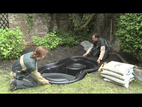 Installation Ubbink ready-made pond