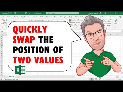 Quickly Swap the Position of Two Values in Excel