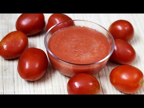 How to make tomato puree  -  Quick and easy tomato puree recipe