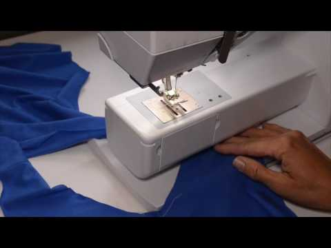 How to Sew a Knit V-neck Neckband on a T-Shirt