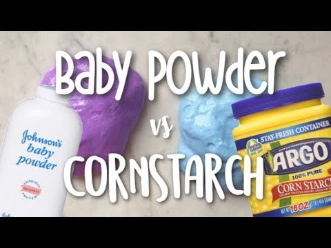 Testing Baby Powder Vs. Cornstarch in Slime