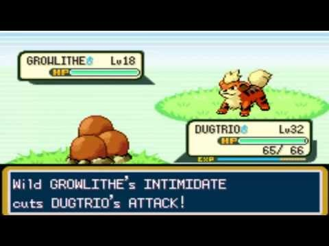 Where to Capture-Catch Growlithe in pokemon Firered