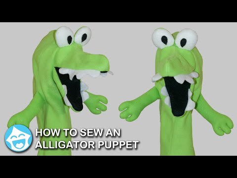 How to Sew an Alligator Puppet