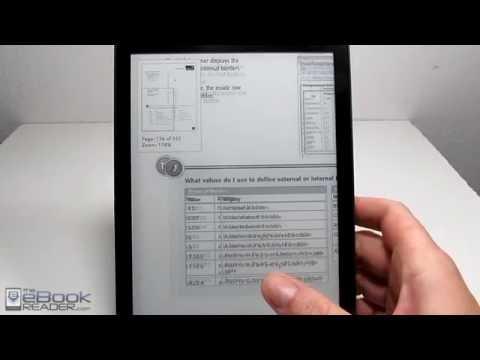 Kobo Aura One PDF Review and Walkthrough
