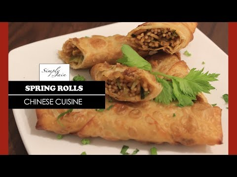 Spring Rolls   How To Make Vegetable Spring Rolls   Chinese Cuisine   Simply Jain