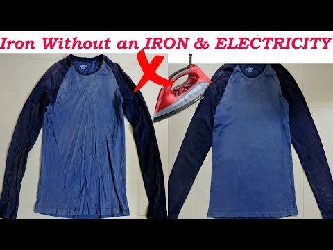 How to Iron Your Clothes WITHOUT an IRON & ELECTRICITY/ Iron only Using a Pan