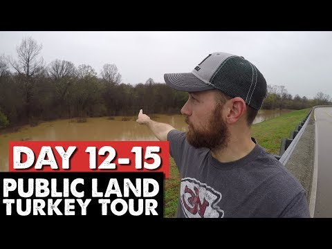 Mississippi Flood, WE NEED A RAFT! - Public Land Turkey Tour Day 12-15