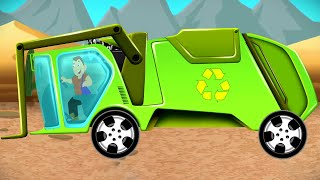 Garbage Truck Formation | Car Cartoon Videos for Children | Learning  Formation - Kids Tv Channel