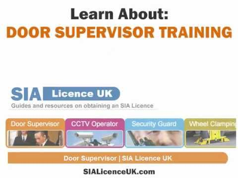 SIA Licence UK - Guides - Door Supervisor Training, Security Guard Training.