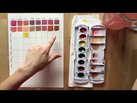 Watercolor Mixing Chart tutorial