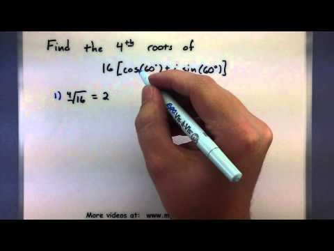 Trigonometry - Finding the roots of a complex number using DeMoivre's theorem