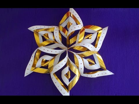 Winter & Christmas Paper Crafts for Kids : How to Make Paper Snowflakes  Easy